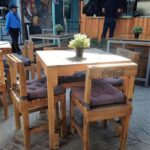 Pallet Table and Chairs Restaurant Furniture