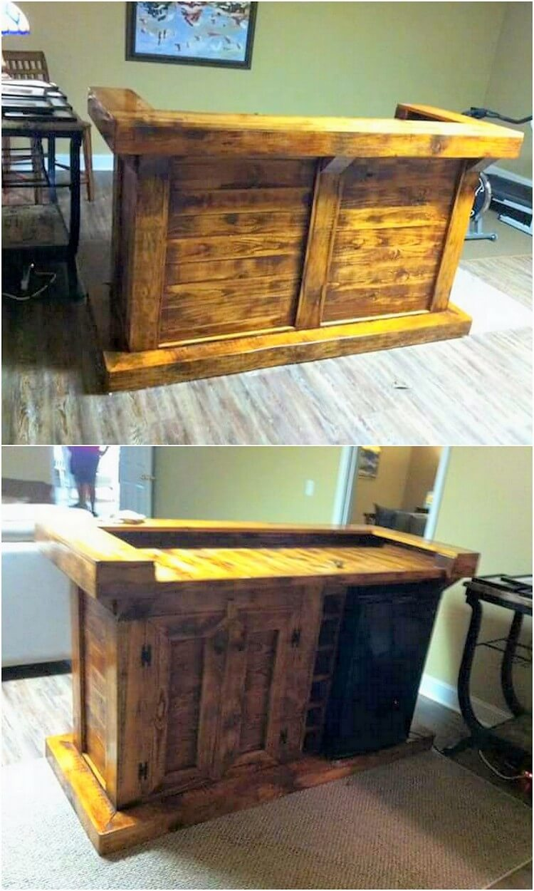 Recycled Pallet Bar or Counter Table