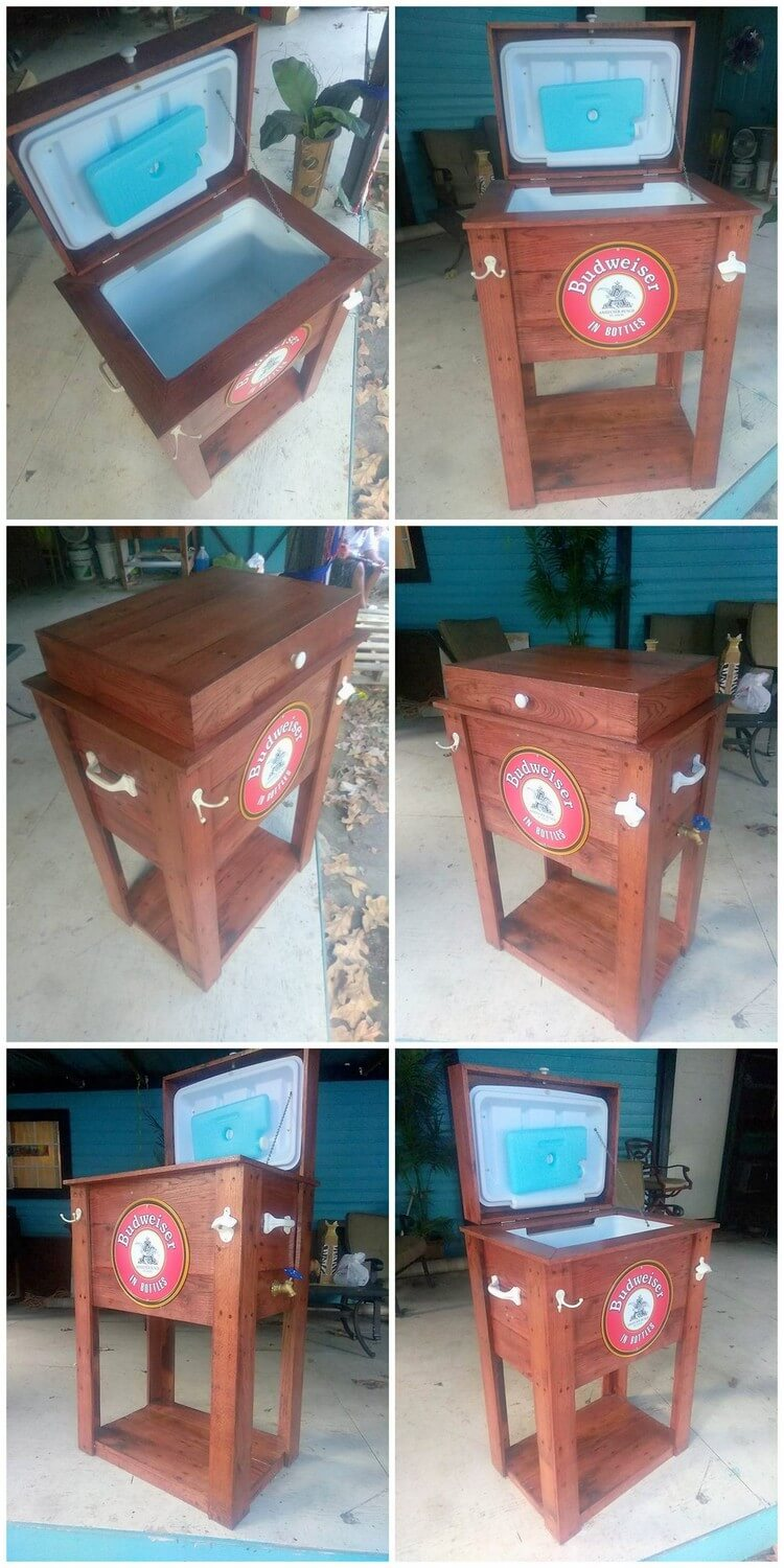 Recycled Wooden Pallet Cooler