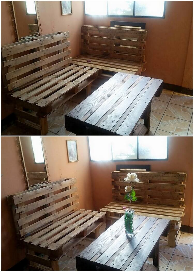 Pallet Benches and Coffee Table