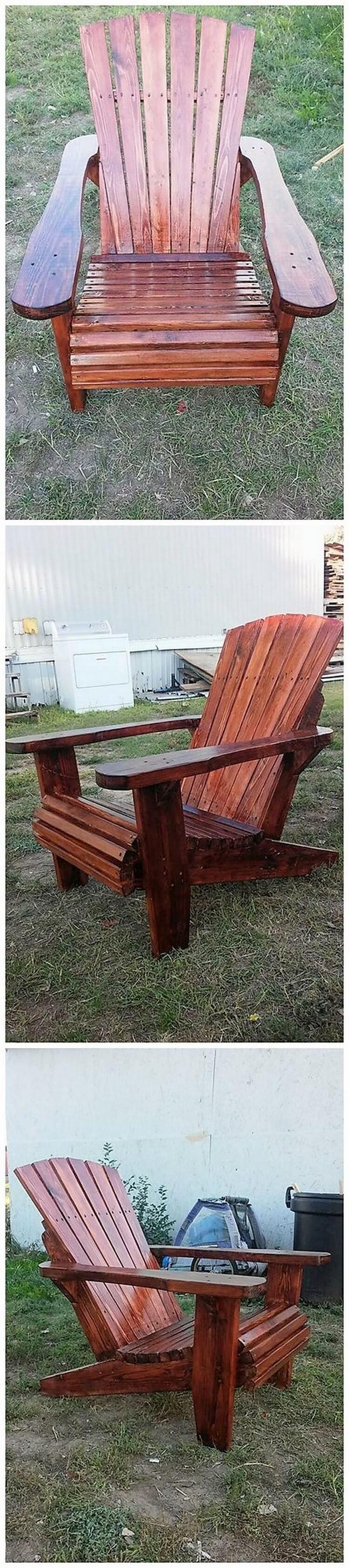 Pallet Garden Adirondack Chair (2)