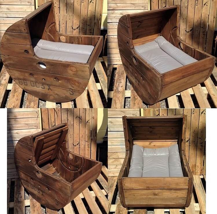 Pallet Moon Cradle Chair