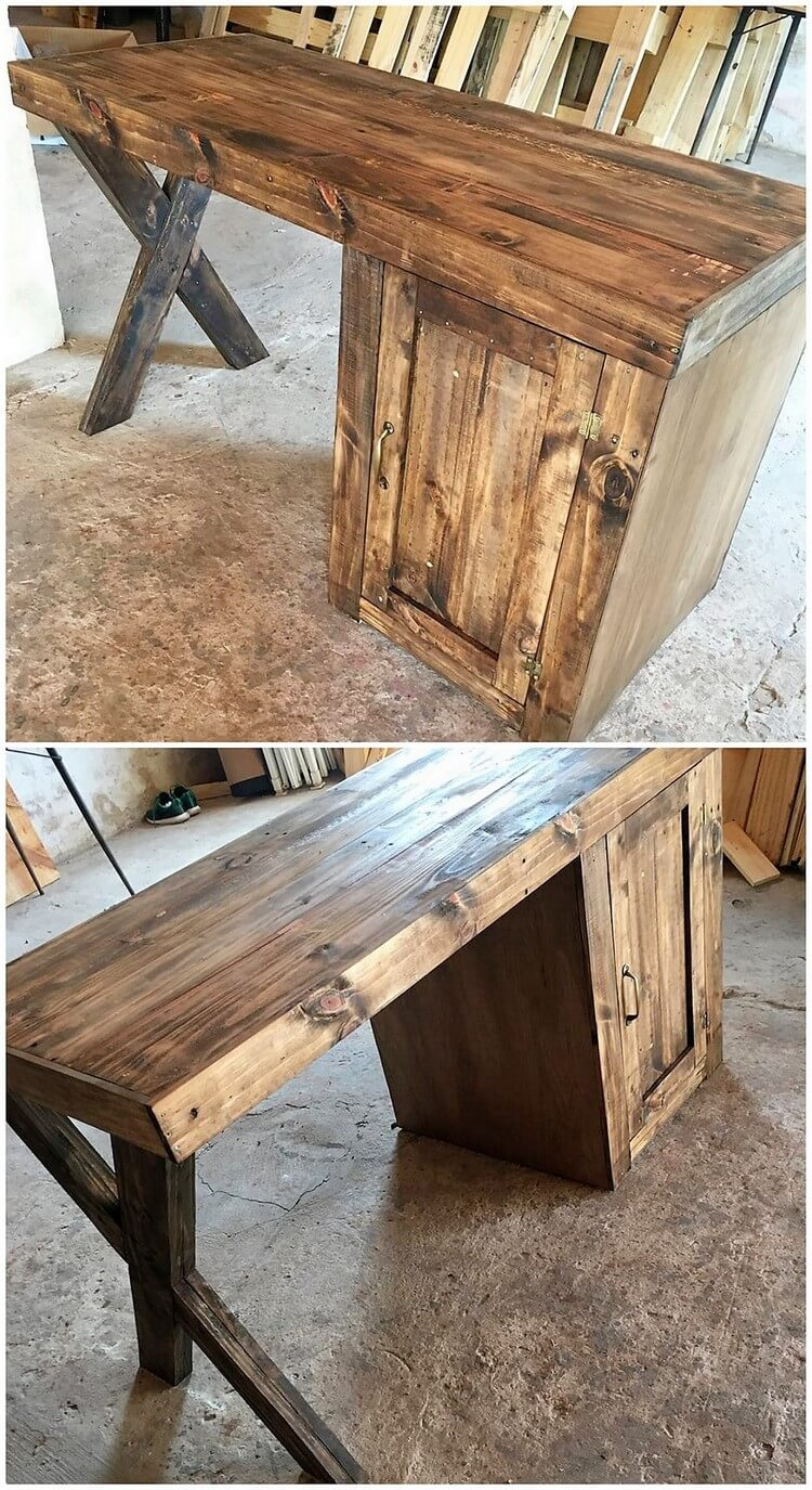 Pallet Office Table Desk
