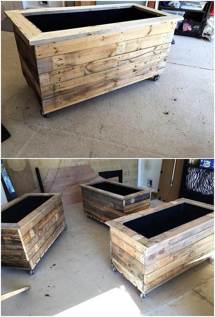 Pallet Planter Boxes