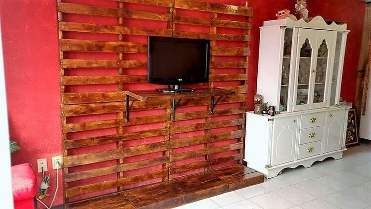Pallet Wall LED Holder and Wall Decor