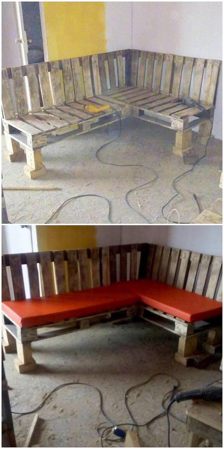 Recycled Pallet Corner Couch
