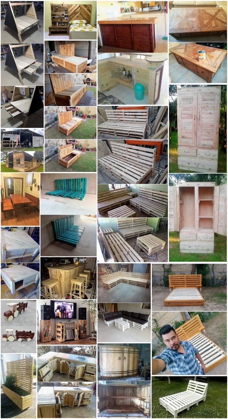 Wonderful Creations with Old Shipping Wooden Pallets