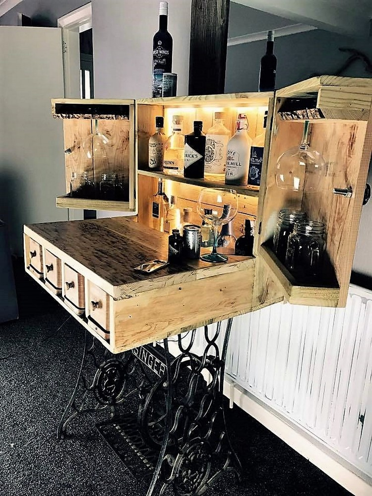 Wood Pallet Bar Table