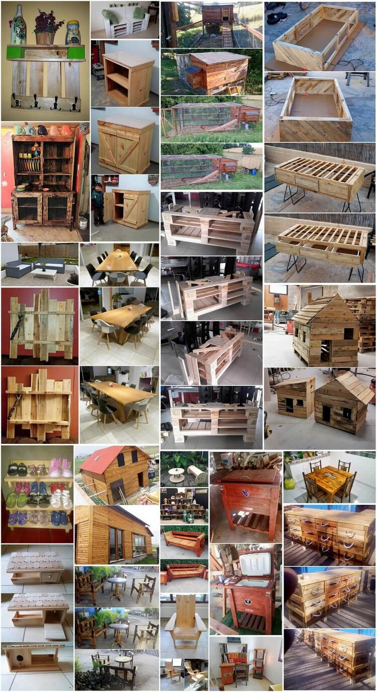Easiest and Cheap DIY Projects with Old Shipping Wood Pallets