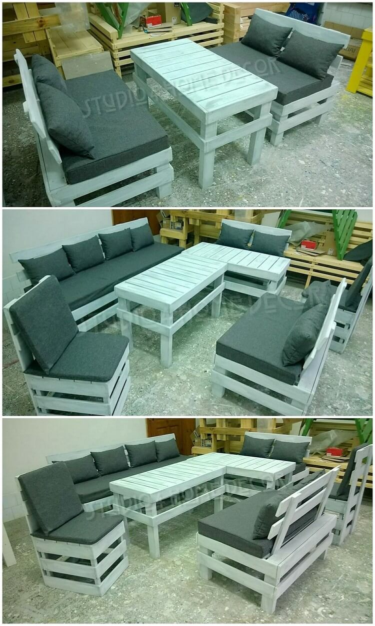 Pallet Couch Set
