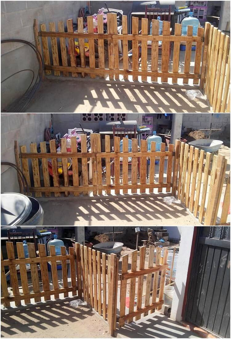 Pallet Garden Fence and Door
