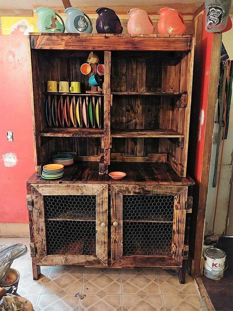 Pallet Kitchen Hutch or Cabinet