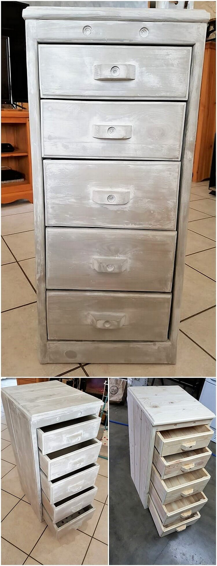 Pallet Mini Chest of Drawers