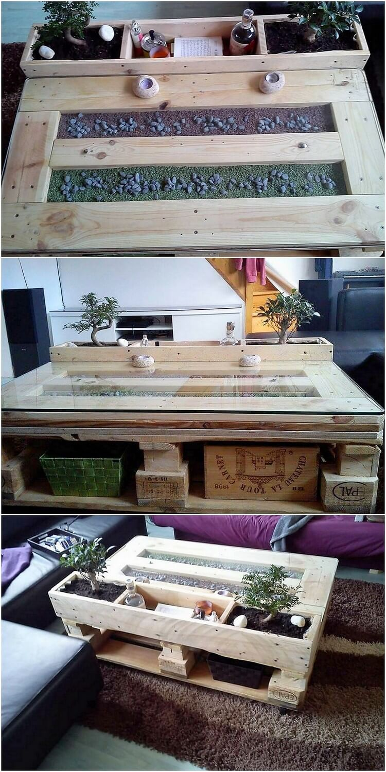 Unqiue Wood Pallet Coffee Table