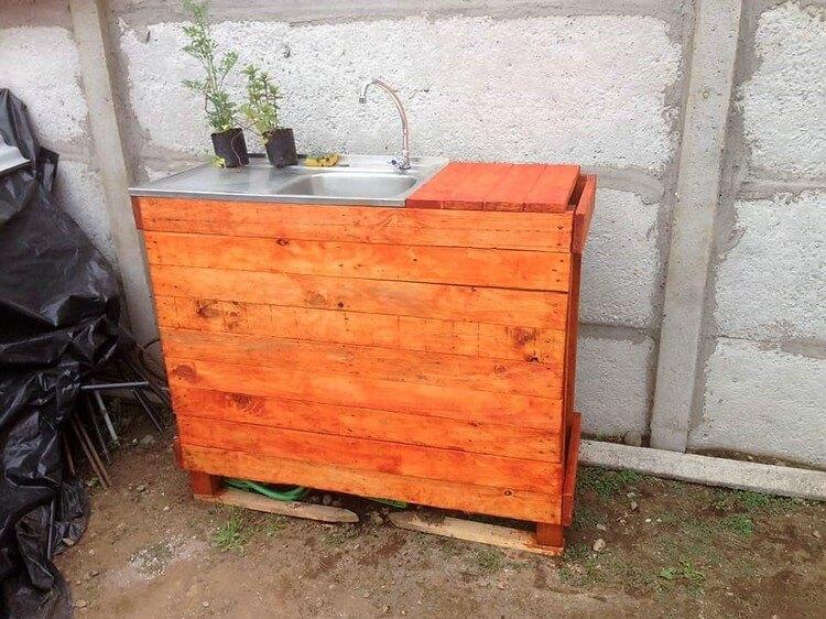 Wood Pallet Sink