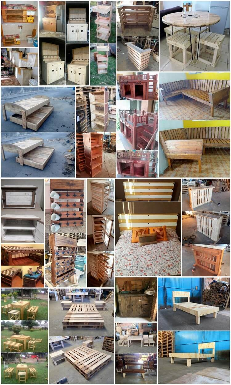 Latest Furnishings Made with Old Shipping Pallets