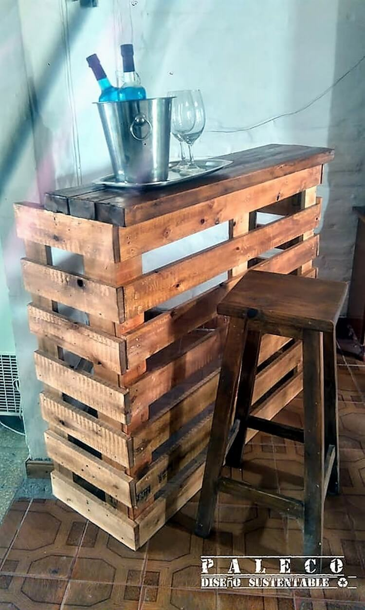 Pallet Counter Table and Stool