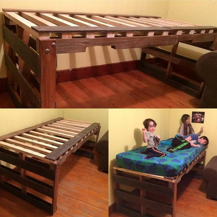 Latest Furnishings Made With Old Shipping Pallets For Pallet Bed