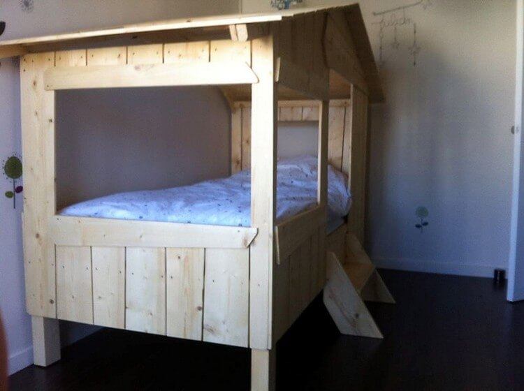 Pallet Kids Bunk Bed Plan