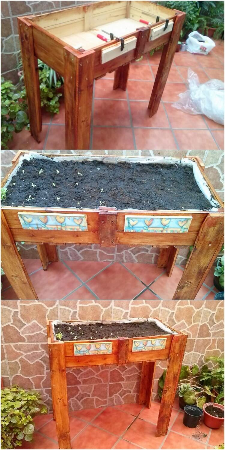 Pallet Planter or Herb Garden