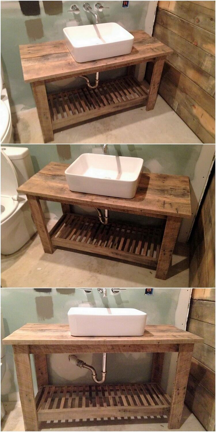 Pallet Sink Table