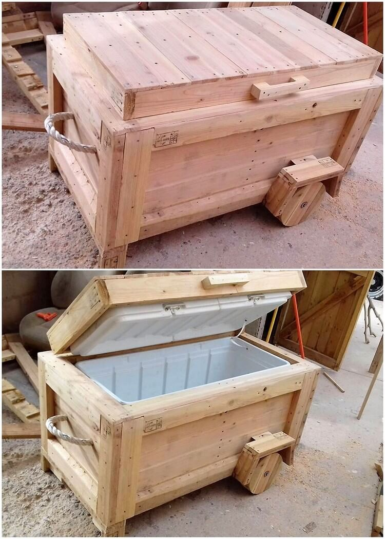 Pallet Cooler on Wheels