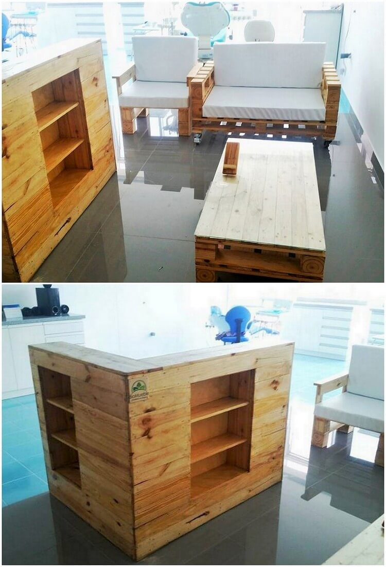 Pallet Couch and Counter Table