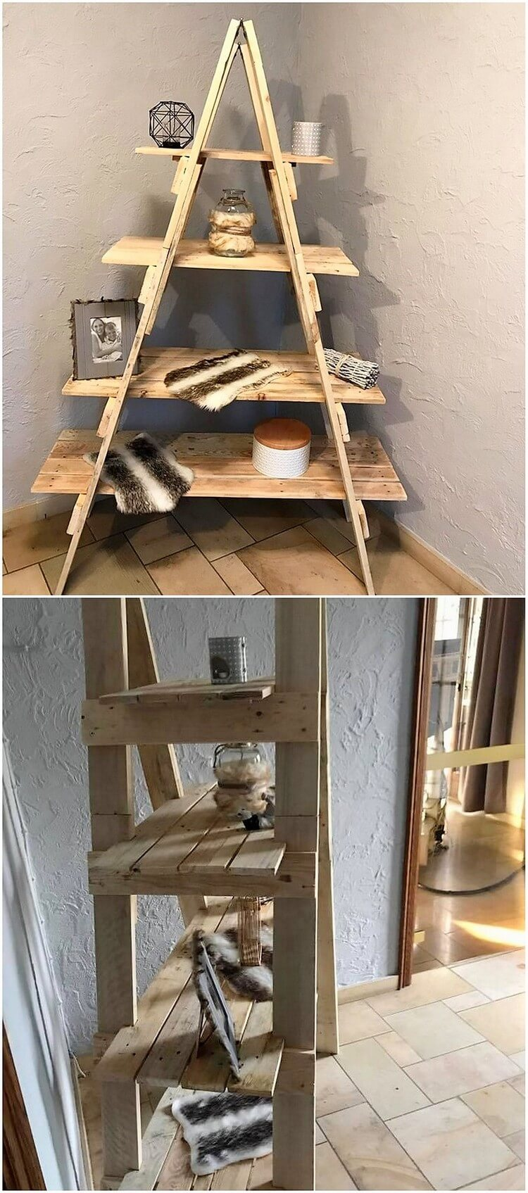 Pallet Ladder Shelf