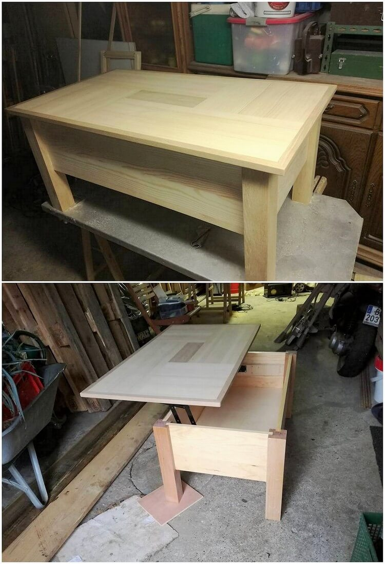 Pallet Lift Up Top Table