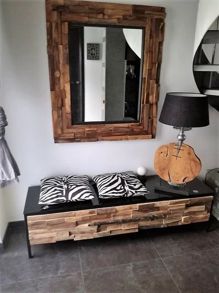 Pallet Mirror Frame and Table