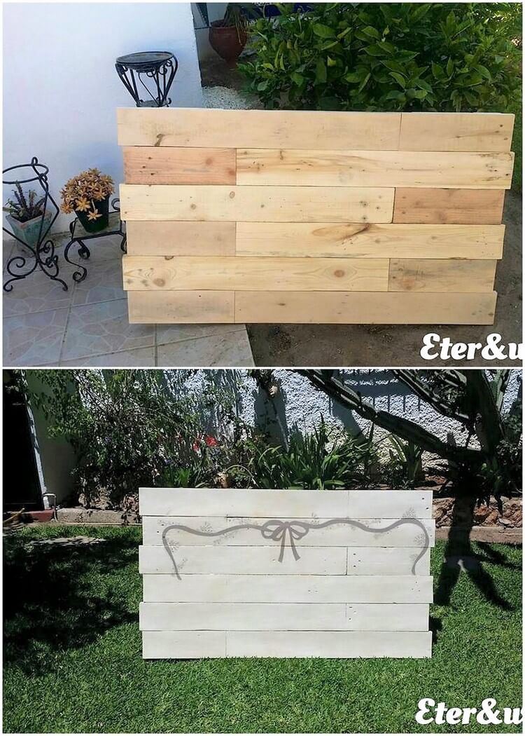 Pallet Wall Decor Creation