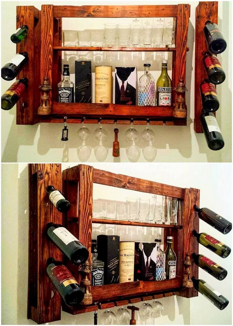 Pallet Wine Rack Shelf