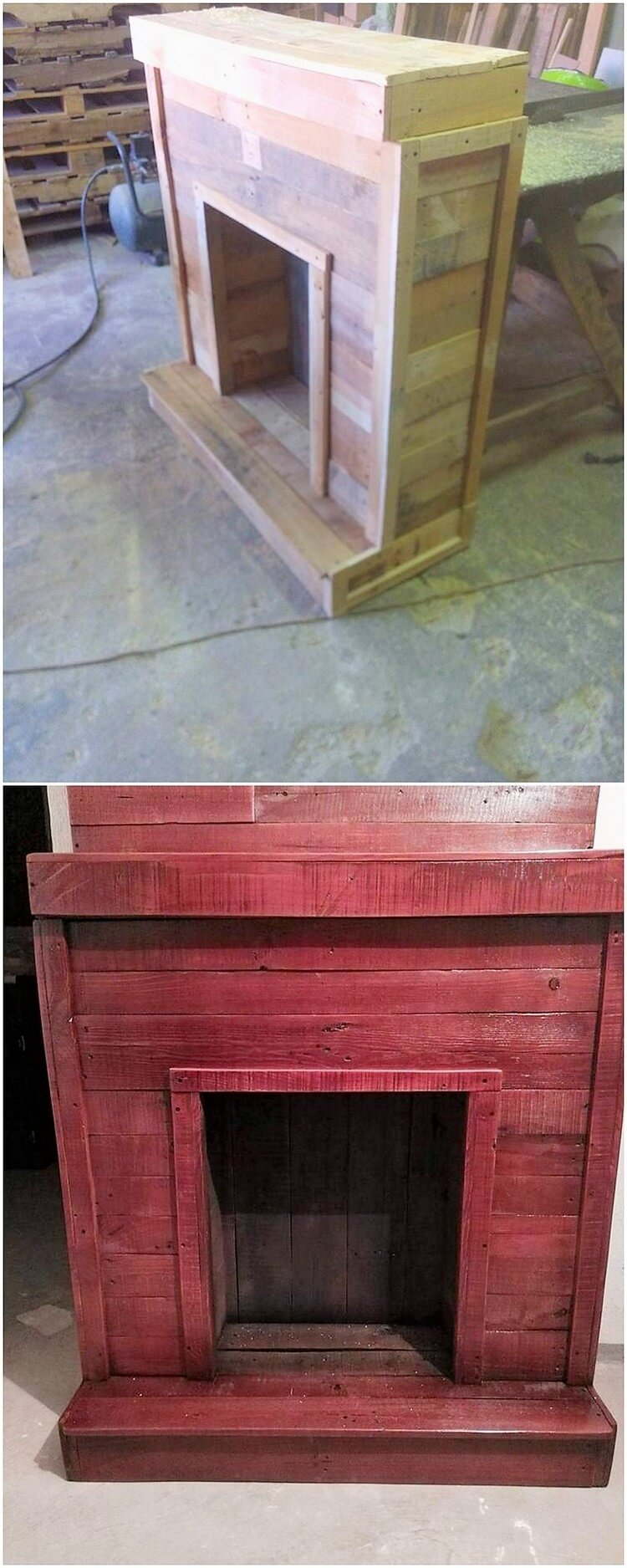Recycled Pallet Fireplace