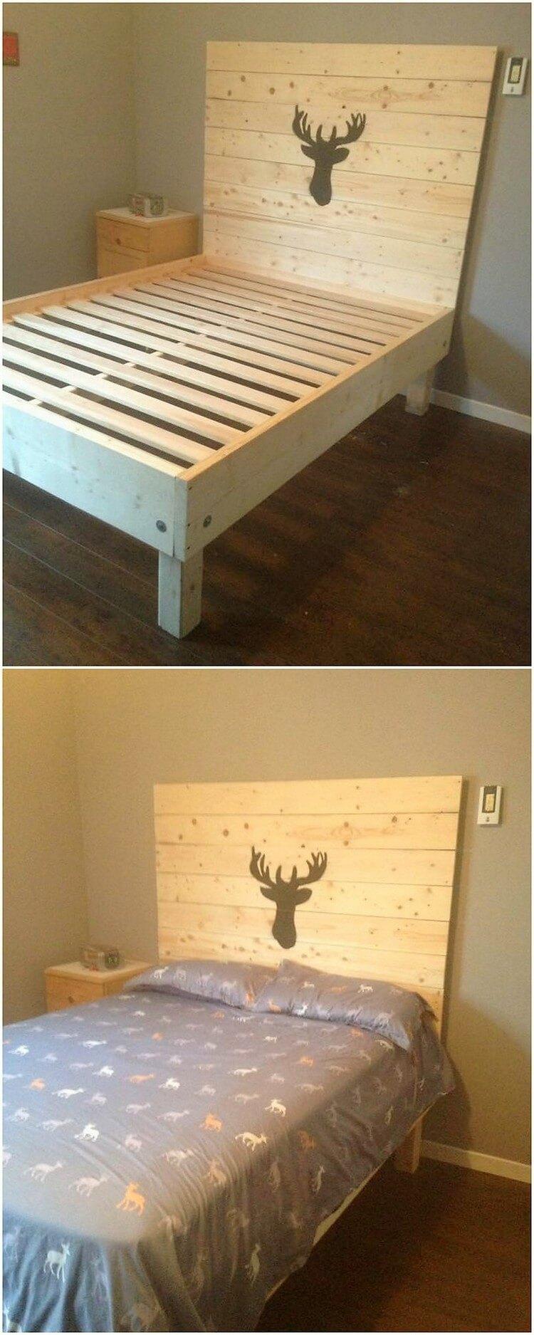Wood Pallet Bed