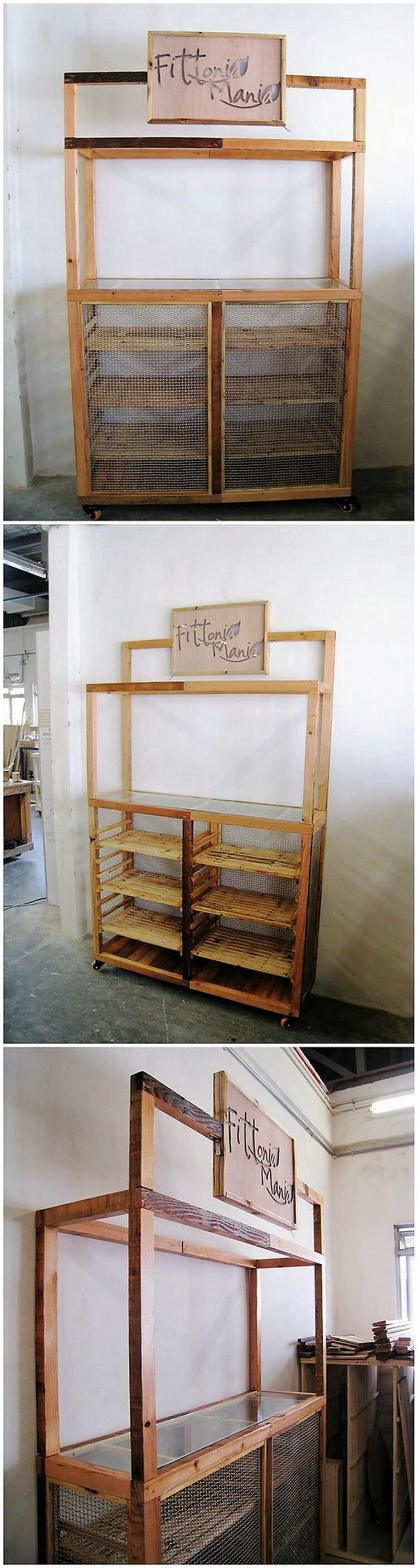 Pallet Cabinet or Hutch