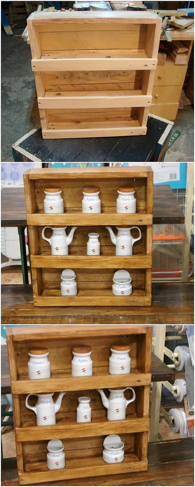 Pallet Kitchen Rack or Shelf