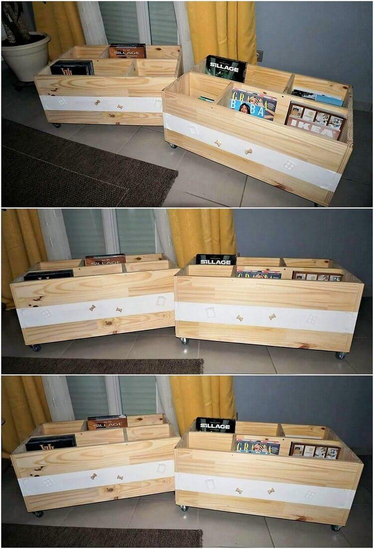 Pallet Storage Boxes on Wheels