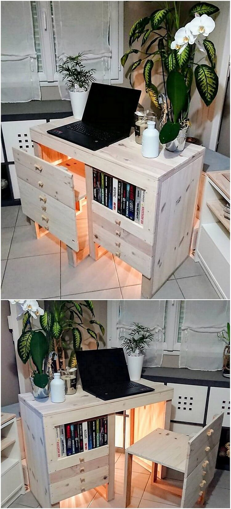 Pallet Study Table with Chair