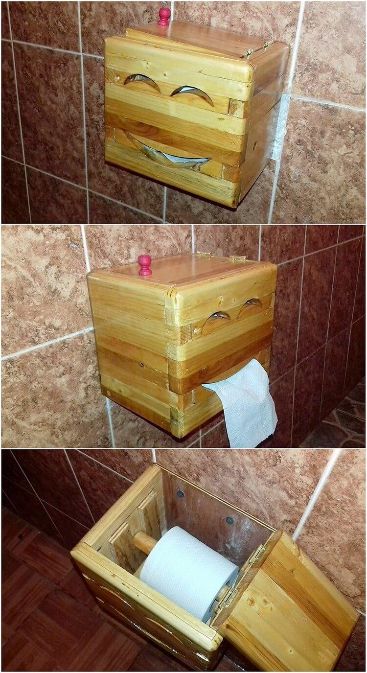 Pallet Toilet Roll Rack