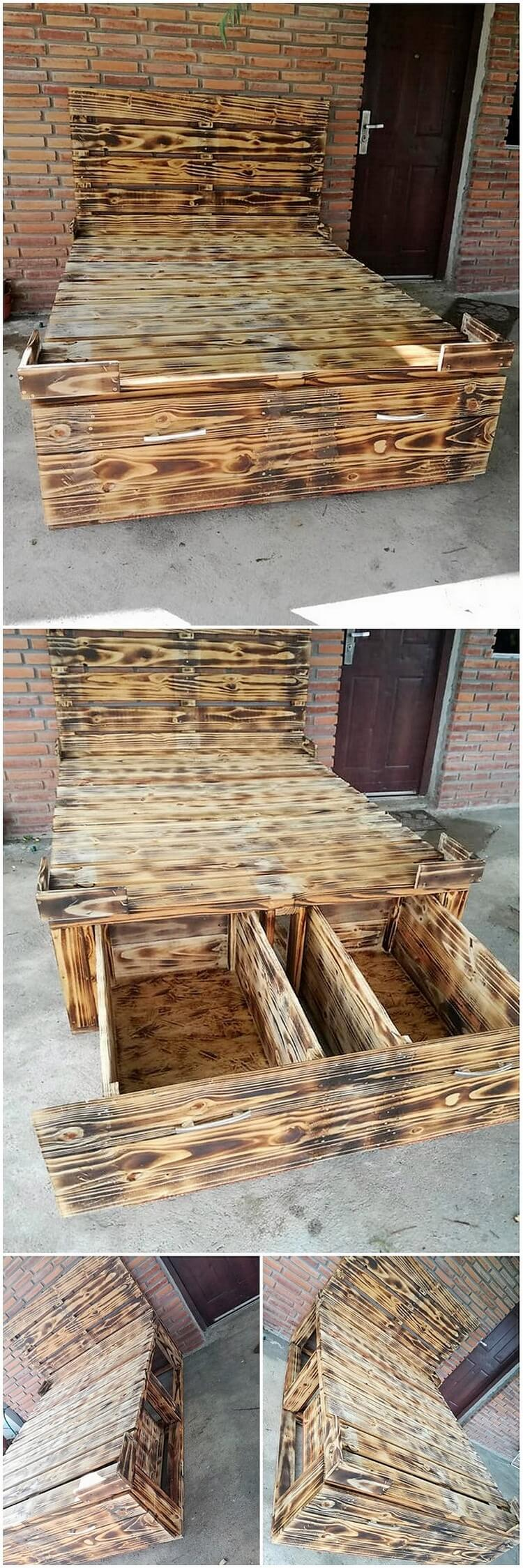 Pallet Bed with Drawer