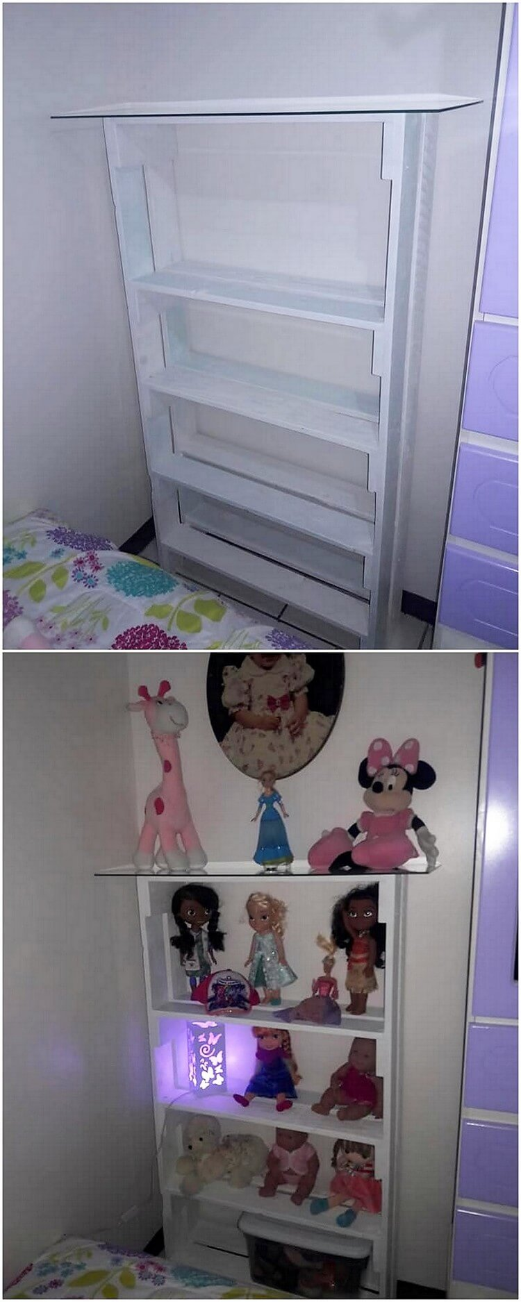 Pallet Shelving Unit for Kids Toys