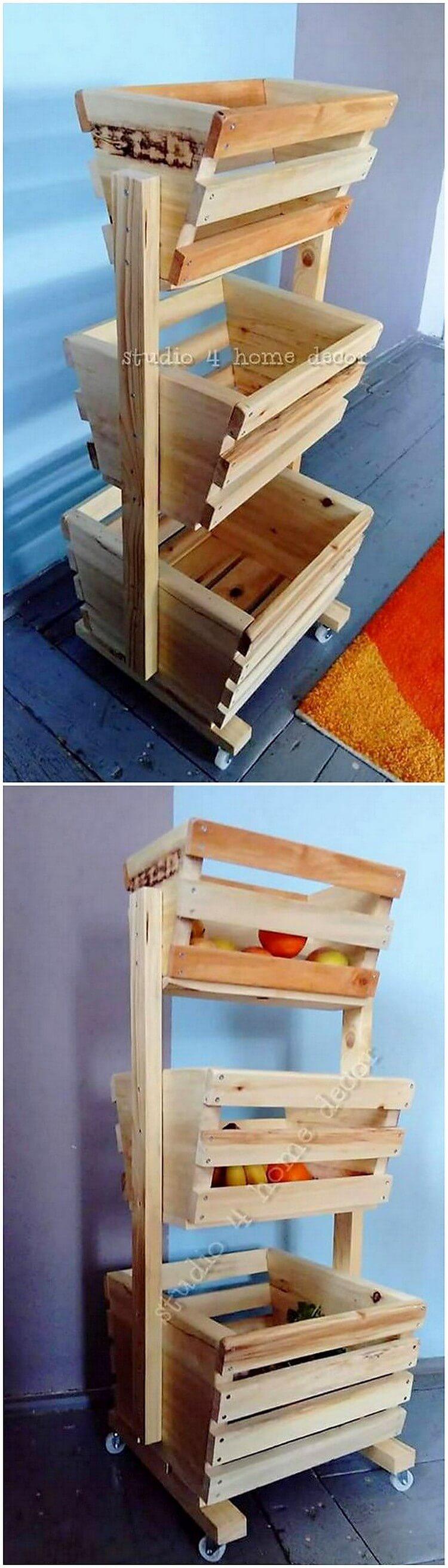 Pallet Vegetable Rack