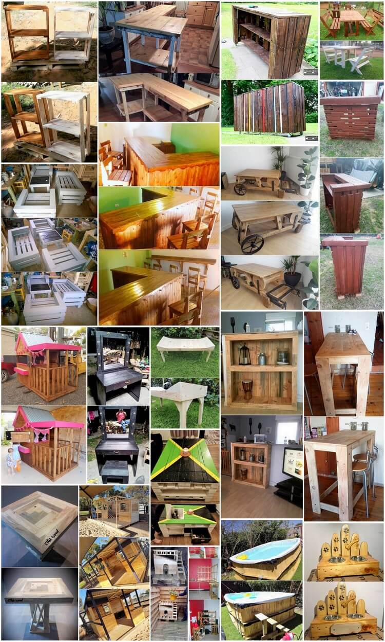 Tremendous Wooden Pallets Reusing Ideas
