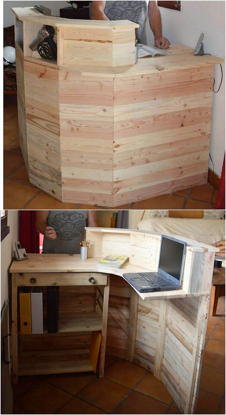 Wood Pallet Counter Table