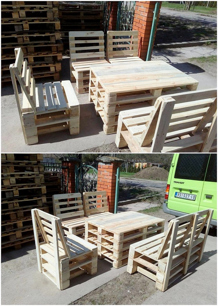pallets as furniture. Pallet Furniture Set Pallets As A
