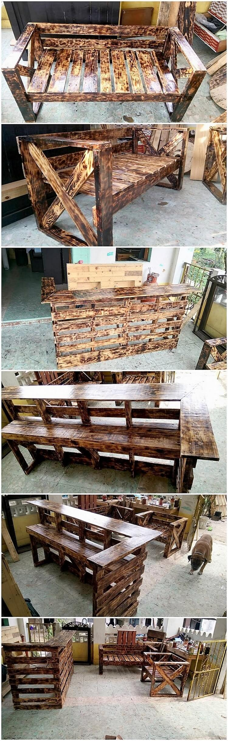 Pallet Furniture and Counter Table