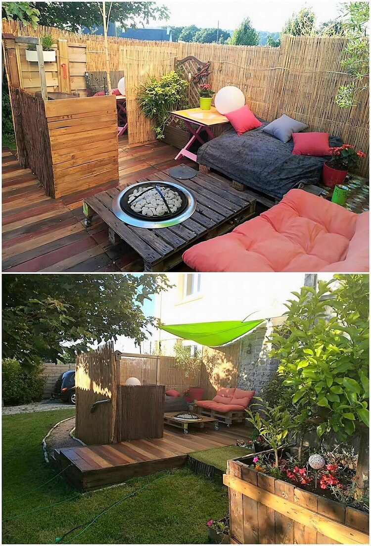 Pallet Garden Terrace with Teraace