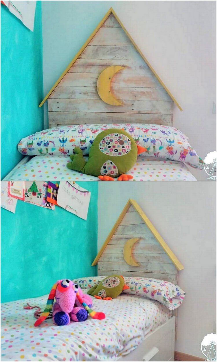 Pallet Kids Bed Headboard