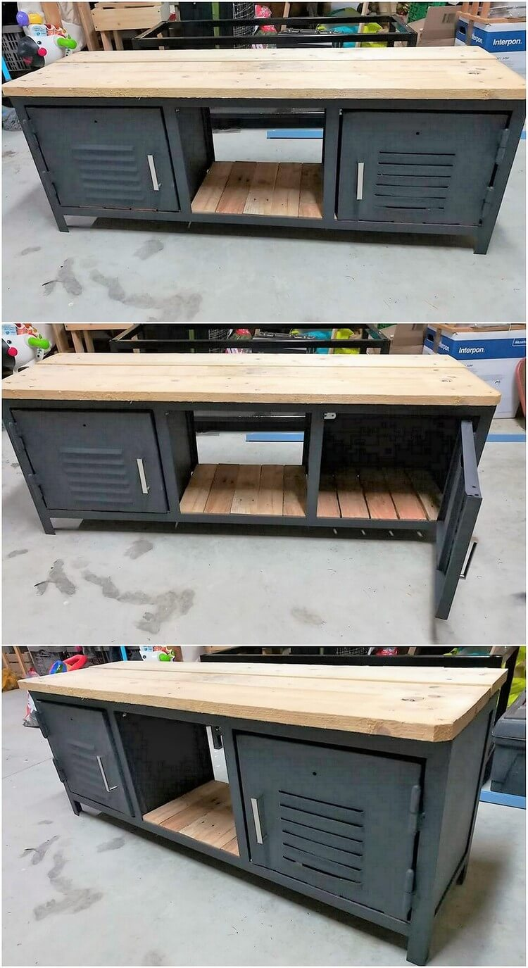 Pallet Media Table or Cabinet