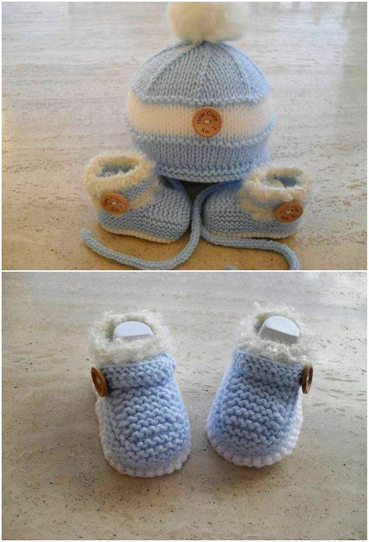 Crochet Cap and Booties for Kids
